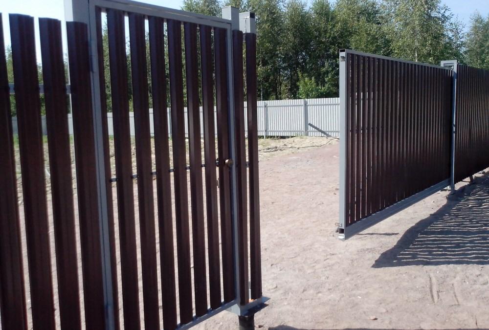 Откатные ворота для дачи цена с установкой под ключ в Железнодорожном