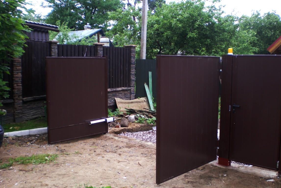 Автоматические ворота видное